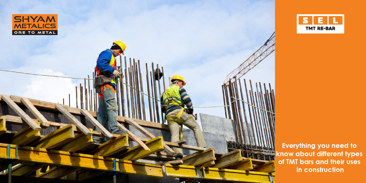 Different types of TMT bars and their uses in construction